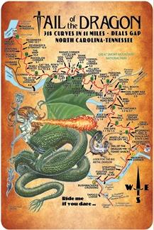 Map Sign Ride Me Lady Dragon 12x18