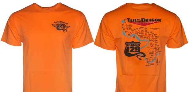 Short Sleeve Orange Map