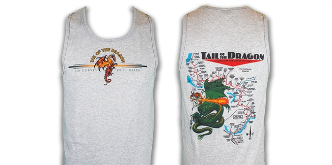 Tank Mens Gray Dragon