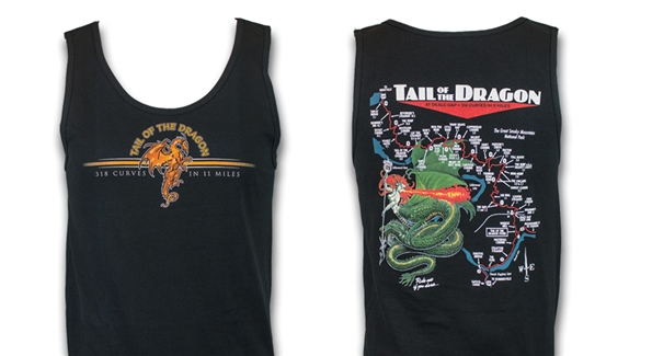 Tank Mens Dragon Black