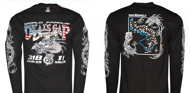 #38 Long Sleeve Black Mechanical Dragon