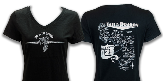 #24 Short Sleeve Ladies Black Vneck