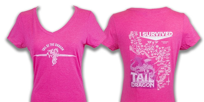 #31 Short Sleeve Vneck Ladies Pink