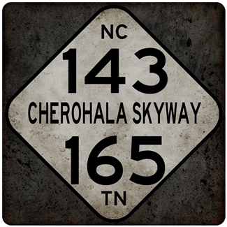 Metal Cherohala 143-165 Sign 12x12