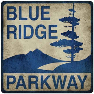 Metal Blue Ridge Parkway Sign 12x12