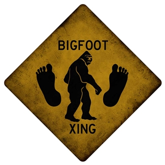 Metal Big Foot Sign 12x12