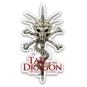 Trailer Size Tall Dragon Skull