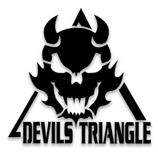 Vinyl Die Cut Devils Triangle