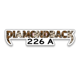 Diamondback Snake Skin 226 Sticker
