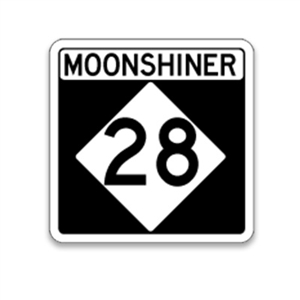 Moonshiner 28 Road Sign