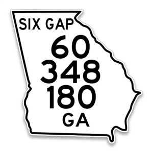 Six Gap North Georgia Sign