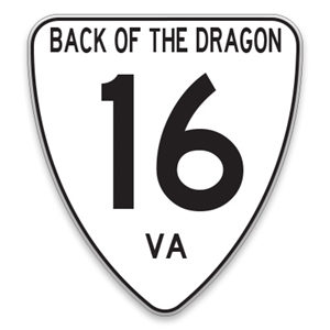 VA16 Back of the Dragon Sign